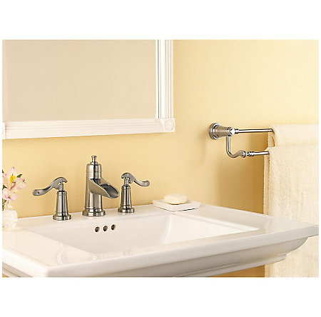 Brushed Nickel Ashfield Widespread Bath Faucet - LG49-YP1K - 2