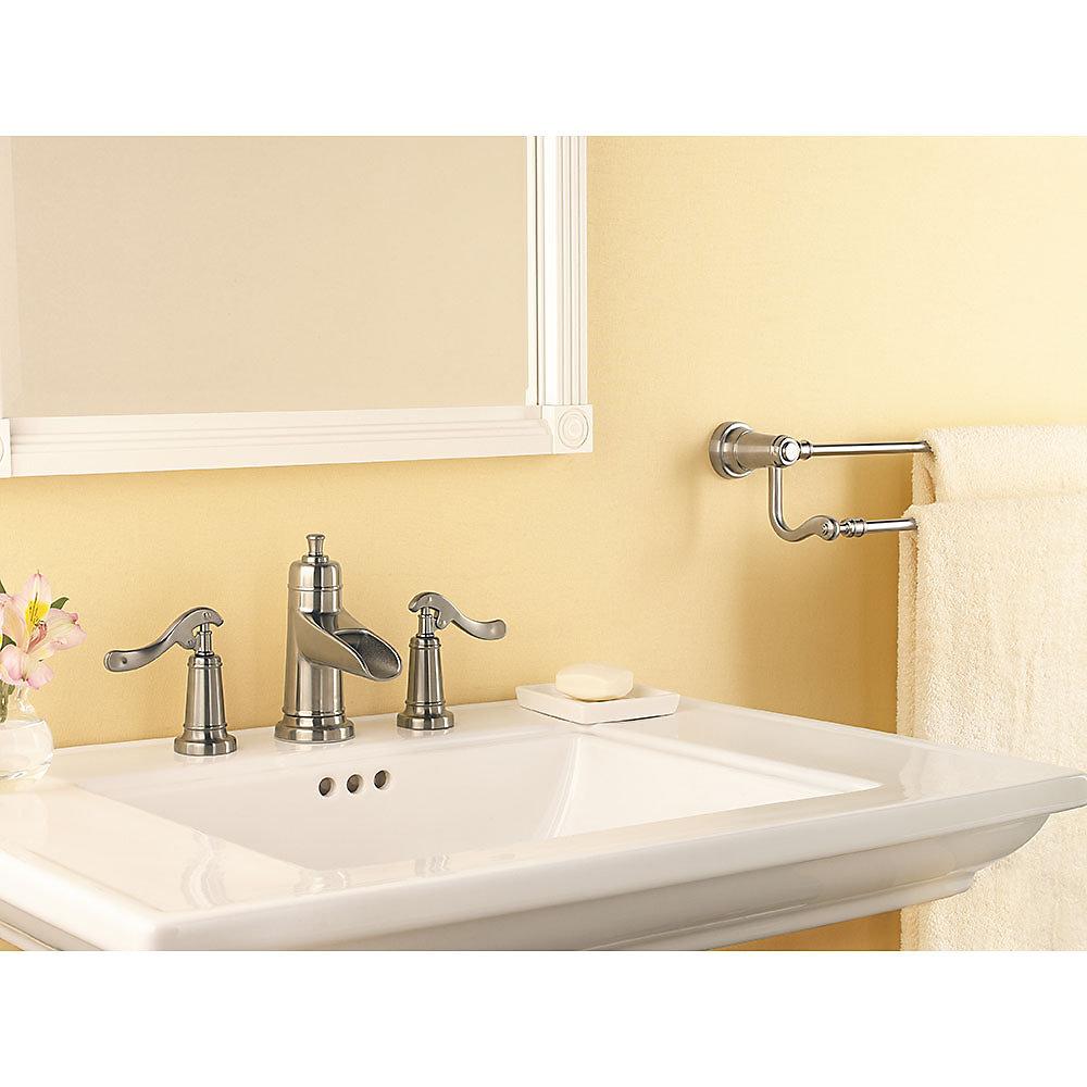 Brushed Nickel Ashfield Widespread Bath Faucet Lg49 Yp1k 2
