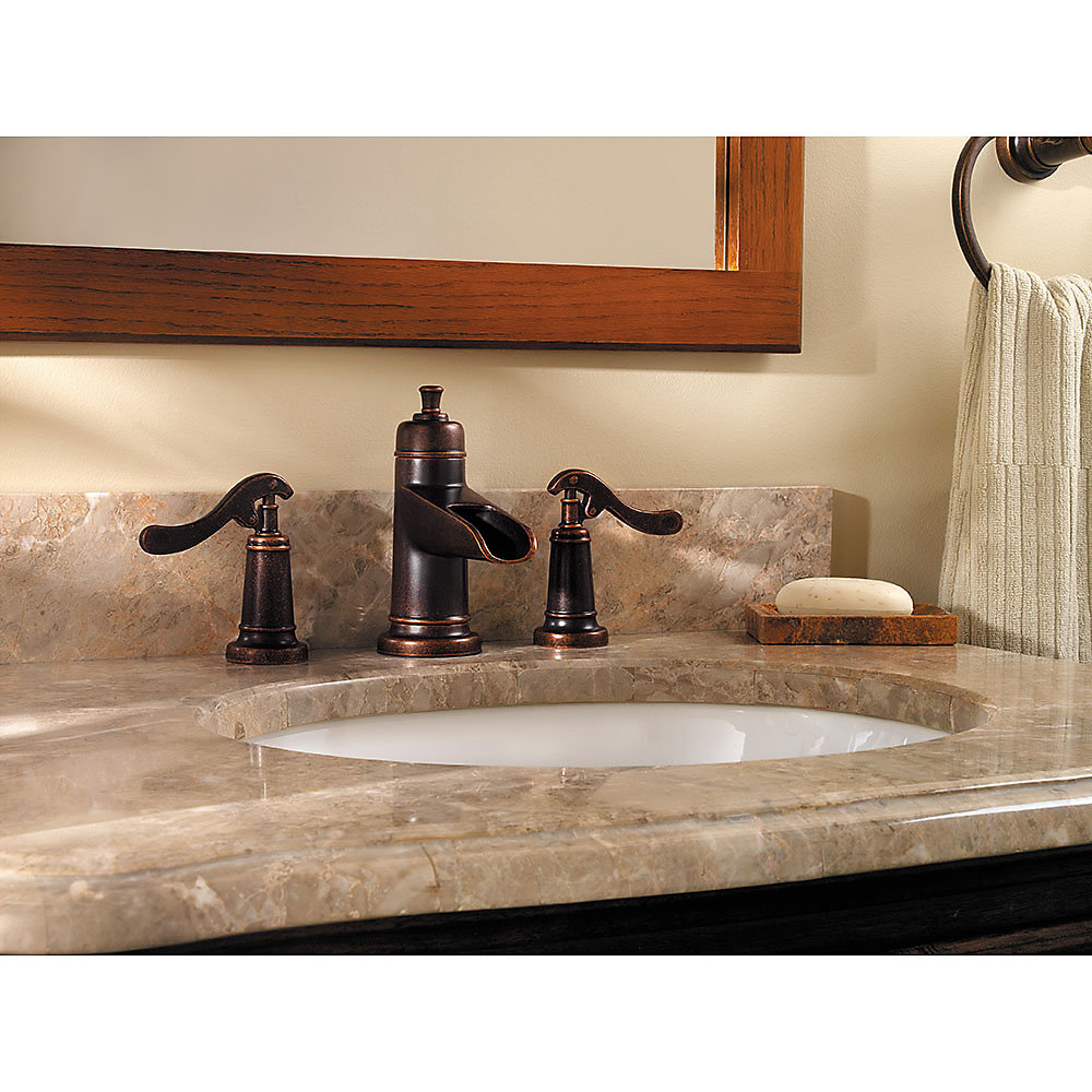 Rustic Bronze Ashfield Widespread Bath Faucet - LG49-YP1U | Pfister ...