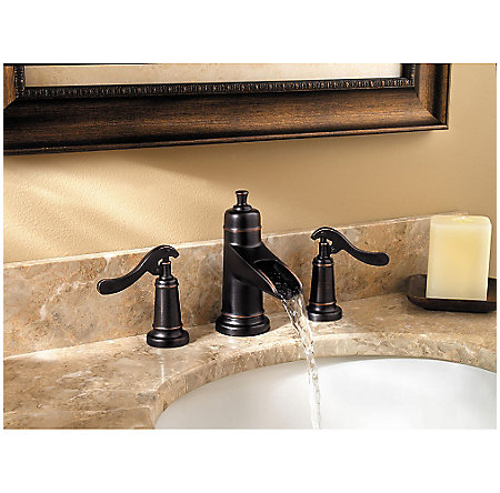 Tuscan Bronze Ashfield Widespread Bath Faucet - LG49-YP1Y - 2
