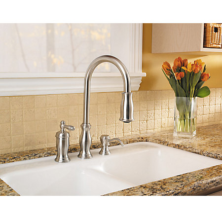 Stainless Steel Hanover 1-Handle, Pull-Down Kitchen Faucet - GT526-TMS - 4