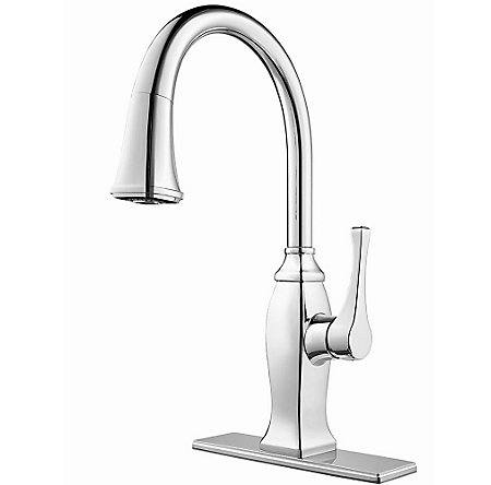 Polished Chrome Briarsfield Pull-Down Kitchen Faucet - GT529-BFC - 2