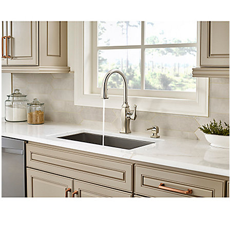 Polished Nickel Briarsfield Pull Down Kitchen Faucet Gt529 Bfd 4