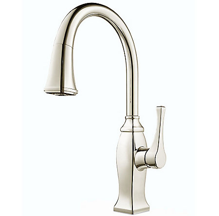 Polished Nickel Briarsfield Pull-Down Kitchen Faucet - GT529-BFD - 1