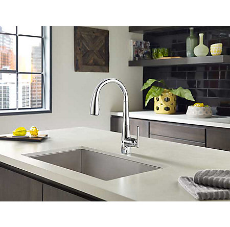Polished Chrome Lita Touch-Free Pull-Down Kitchen Faucet with React™ - GT529-ELC - 2