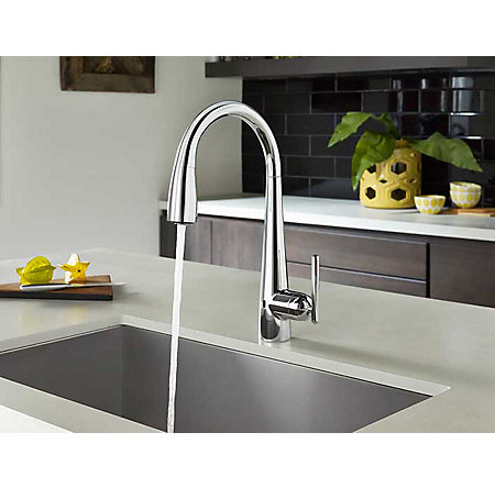 Polished Chrome Lita Touch-Free Pull-Down Kitchen Faucet with React™ - GT529-ELC - 3