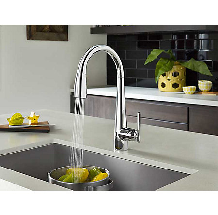 Polished Chrome Lita Touch-Free Pull-Down Kitchen Faucet with React™ - GT529-ELC - 4