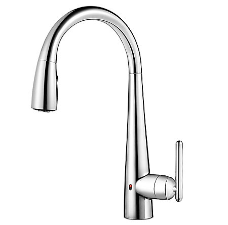 Polished Chrome Lita Touch-Free Pull-Down Kitchen Faucet with React™ - GT529-ELC - 1