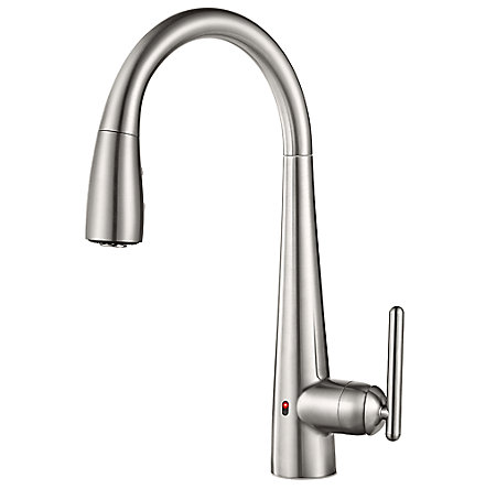 one touch kitchen faucet stainless steel lita touch free pull kitchen faucet 21077