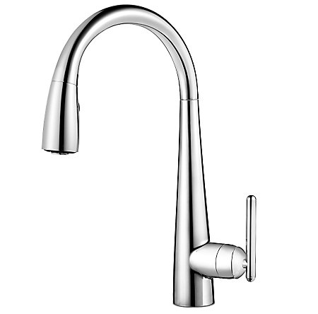 Polished Chrome Lita with Xtract™ 1-Handle, Pull-Down Kitchen Faucet - GT529-FLC - 1