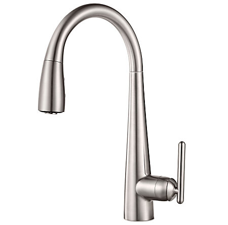 Stainless Steel Lita with Xtract™ 1-Handle, Pull-Down Kitchen Faucet - GT529-FLS - 1