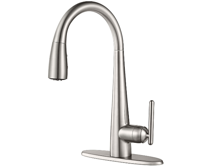 Stainless Steel Lita With Xtract™ 1-Handle, Pull-Down Kitchen Faucet ...