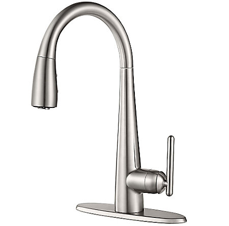 Stainless Steel Lita with Xtract™ 1-Handle, Pull-Down Kitchen Faucet - GT529-FLS - 2