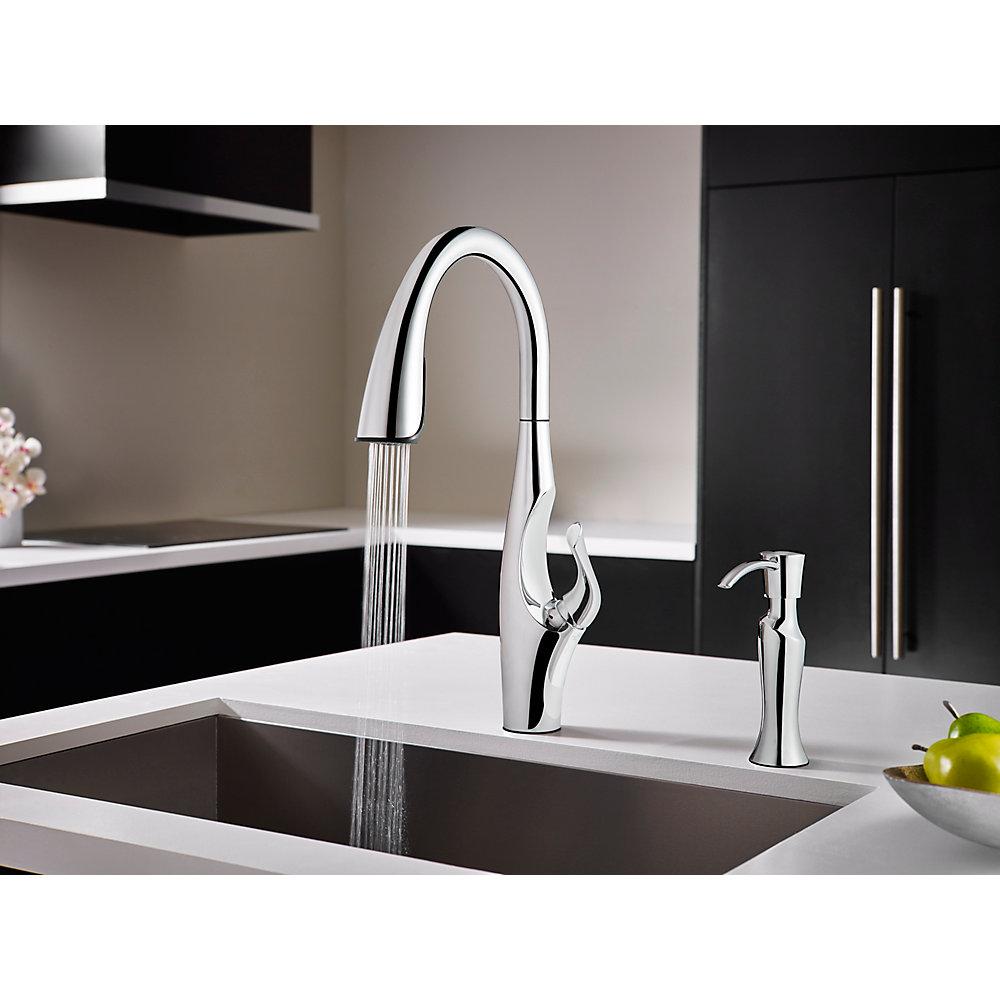 Polished Chrome Kai Pull-Down Kitchen Faucet - GT529-IHC | Pfister ...