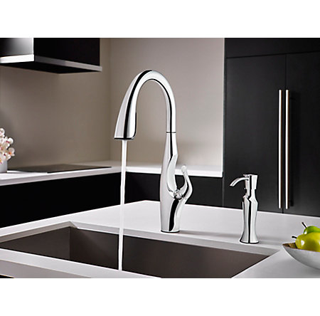 Polished Chrome Kai Pull-Down Kitchen Faucet - GT529-IHC - 6