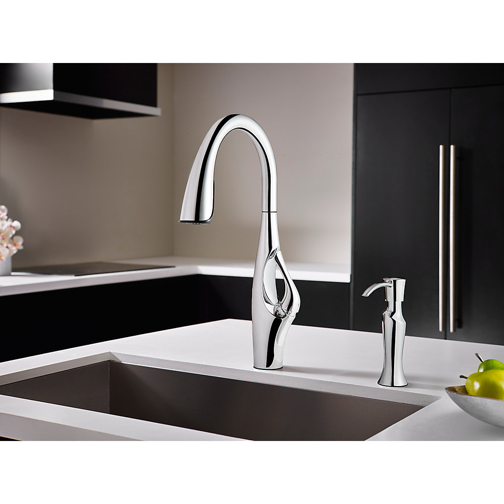 Polished Chrome Kai Pull-Down Kitchen Faucet - GT529-IHC | Pfister ...