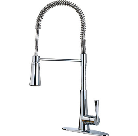 Polished Chrome Zuri Culinary Kitchen Faucet - LG529-MCC - 1
