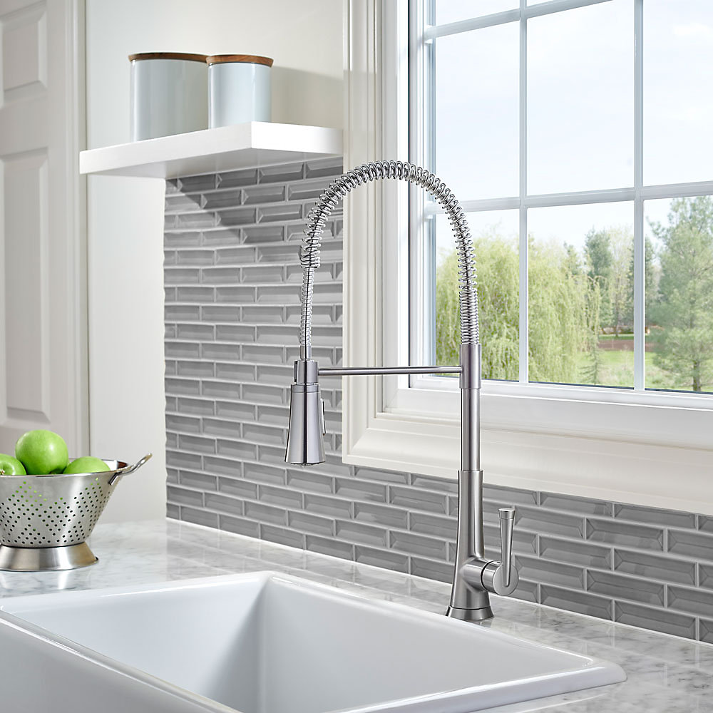 Stainless Steel Zuri Culinary Kitchen Faucet - LG529-MCS | Pfister ...