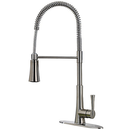 Stainless Steel Zuri Culinary Kitchen Faucet - LG529-MCS - 1