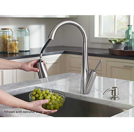 Polished Chrome Zuri Pull-Down Kitchen Faucet - GT529-MPC - 3