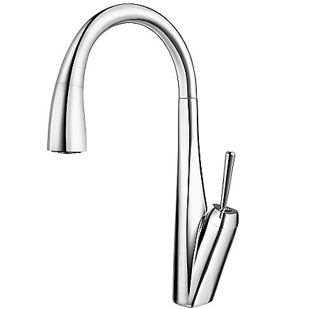 Polished Chrome Zuri Pull-Down Kitchen Faucet - GT529-MPC - 1