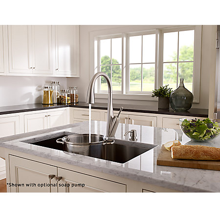 Stainless Steel Zuri Pull-Down Kitchen Faucet - GT529-MPS - 3