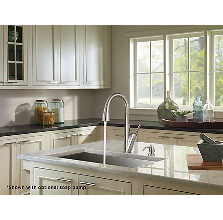 Stainless Steel Zuri Pull-Down Kitchen Faucet - GT529-MPS - 5