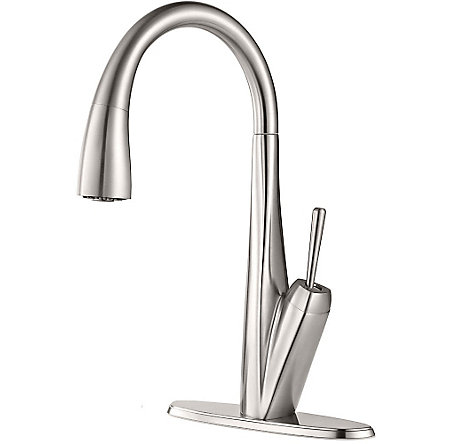 Stainless Steel Zuri Pull-Down Kitchen Faucet - GT529-MPS - 2