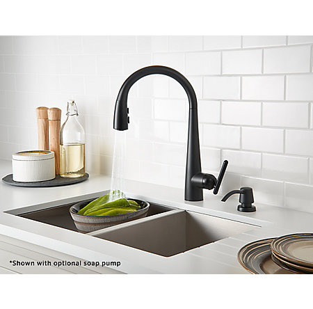 Black Lita Pull-Down Kitchen Faucet - GT529-SMB - 4