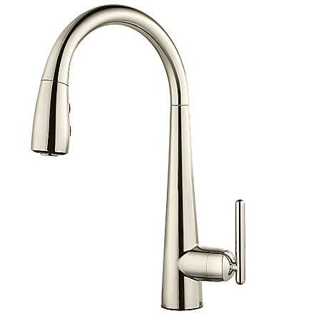 Polished Nickel Lita Pull-Down Kitchen Faucet - GT529-SMD - 1