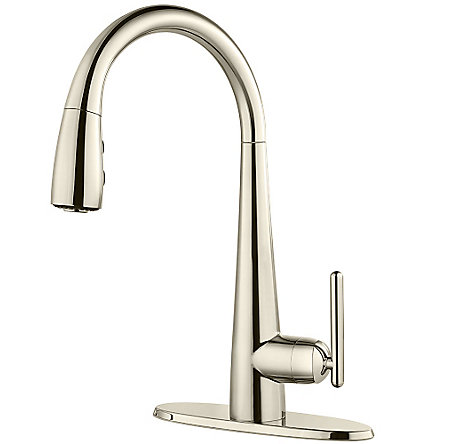 Polished Nickel Lita Pull-Down Kitchen Faucet - GT529-SMD - 2