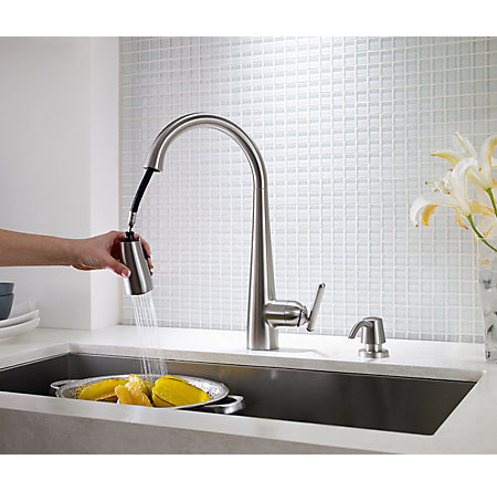 Stainless Steel Lita Pull-Down Kitchen Faucet - GT529-SMS - 5