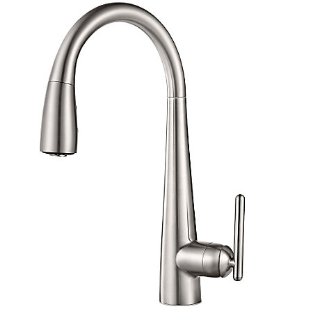 Stainless Steel Lita Pull-Down Kitchen Faucet - GT529-SMS - 1