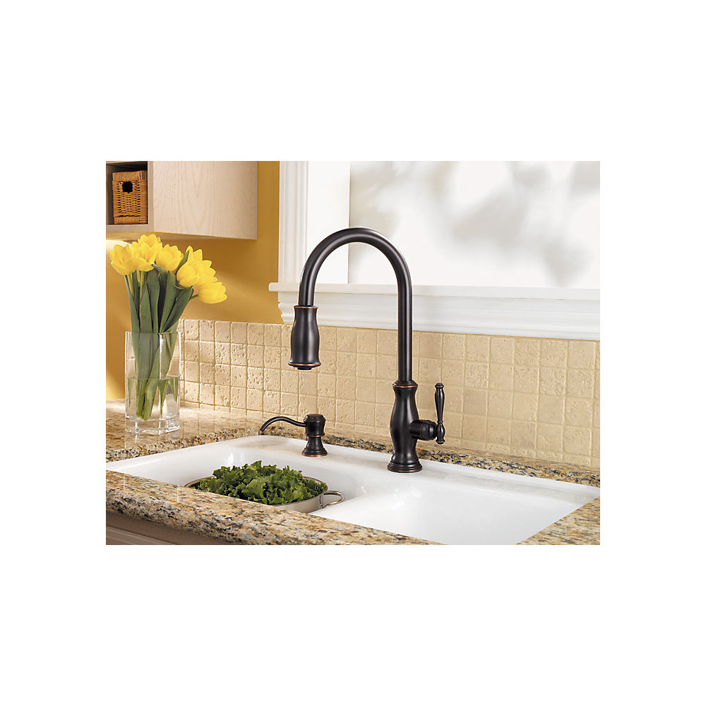 Tuscan Bronze Hanover 1-Handle, Pull-Down Kitchen Faucet - GT529-TMY ...