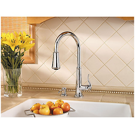 Polished Chrome Ashfield 1-Handle, Pull-Down Kitchen Faucet - GT529-YPC - 4