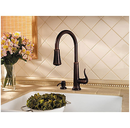 Rustic Bronze Ashfield 1-Handle, Pull-Down Kitchen Faucet - GT529-YPU - 4