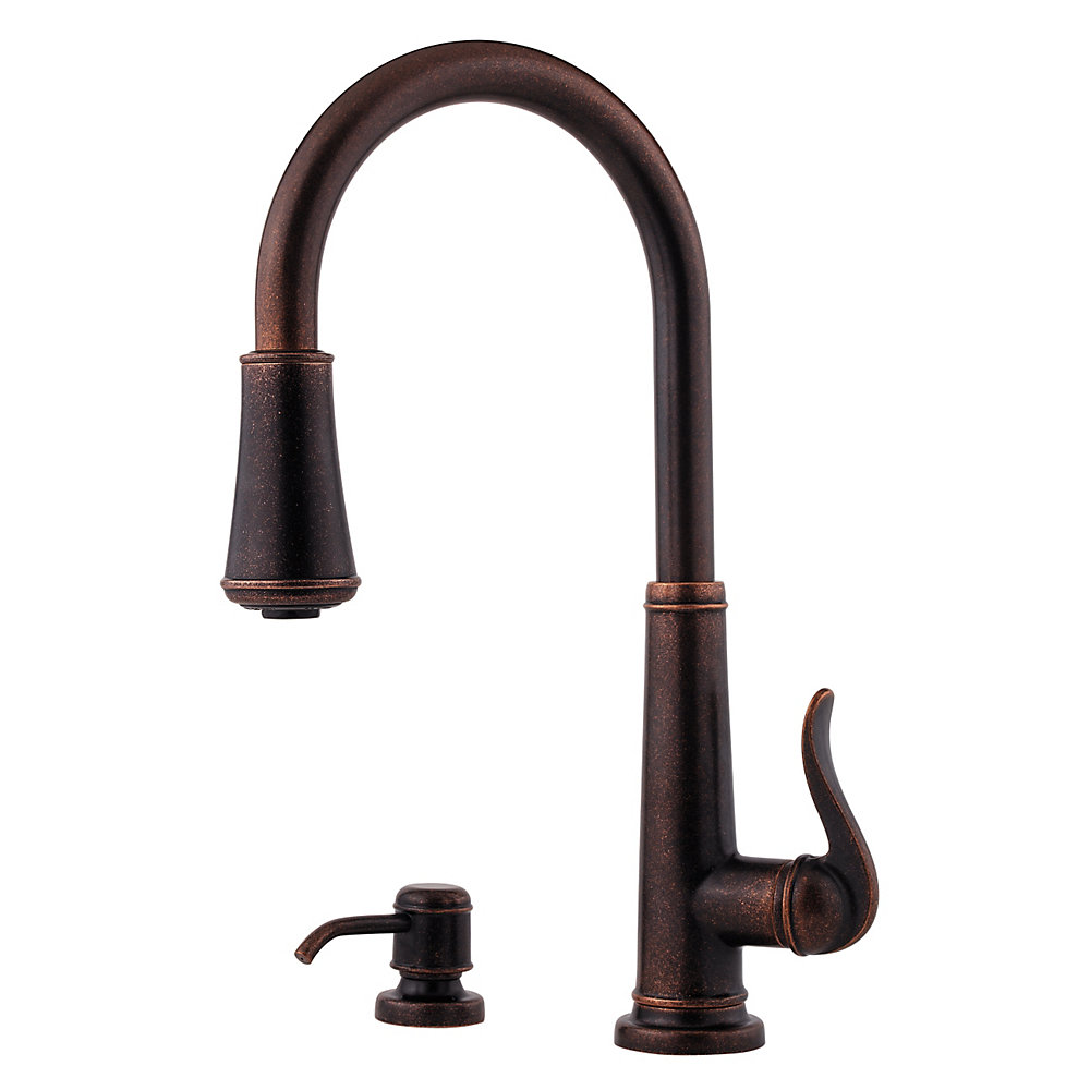Rustic Bronze Ashfield 1-Handle, Pull-Down Kitchen Faucet - GT529 ...