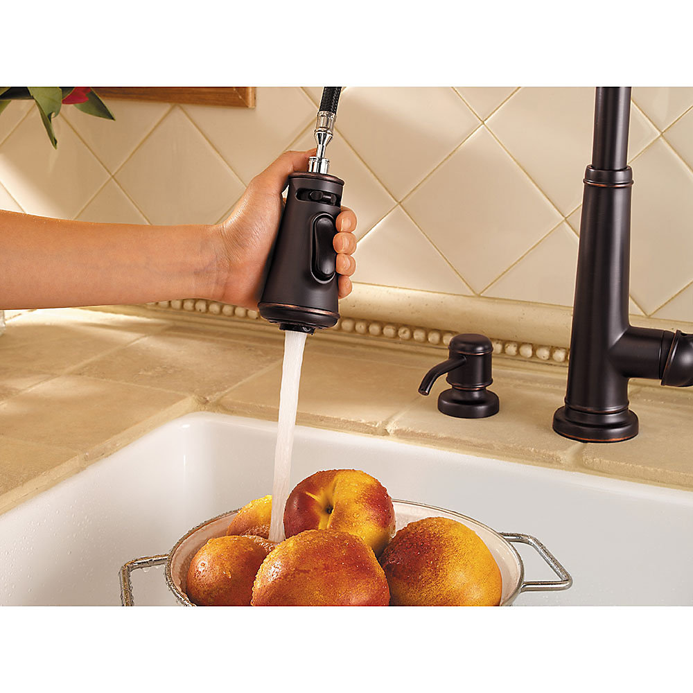 Tuscan Bronze Ashfield 1-Handle, Pull-Down Kitchen Faucet - GT529 ...
