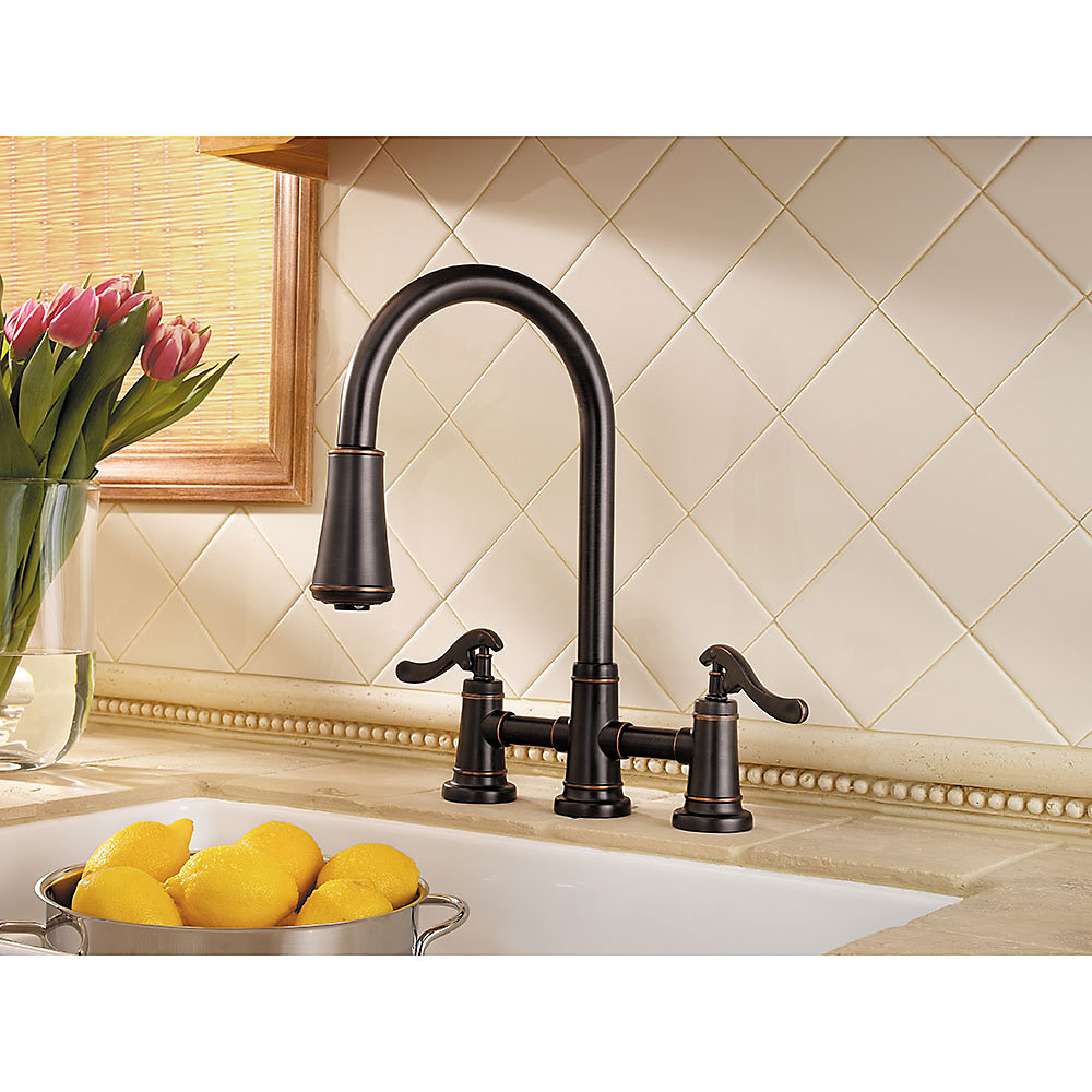 Tuscan Bronze Ashfield 2-Handle, Pull-Down Kitchen Faucet - LG531 ...