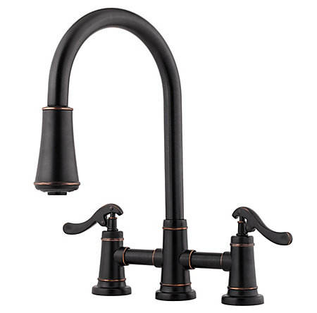 Tuscan Bronze Ashfield 2-Handle, Pull-Down Kitchen Faucet - LG531-YPY - 1