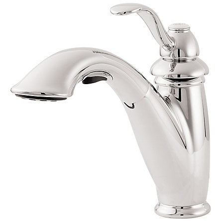 Polished Chrome Marielle 1-Handle, Pull-Out Kitchen Faucet - LG532-7CC - 1