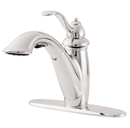 Polished Chrome Marielle 1-Handle, Pull-Out Kitchen Faucet - LG532-7CC - 2