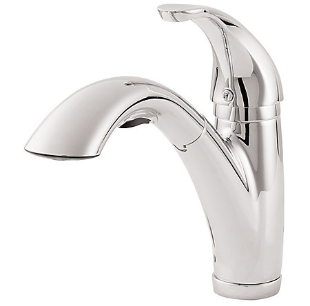 Polished Chrome Parisa 1-Handle, Pull-Out Kitchen Faucet - LG534-7CC - 1