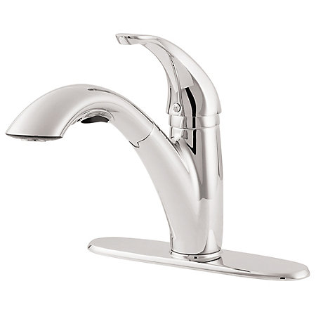Polished Chrome Parisa 1-Handle, Pull-Out Kitchen Faucet - LG534-7CC - 3