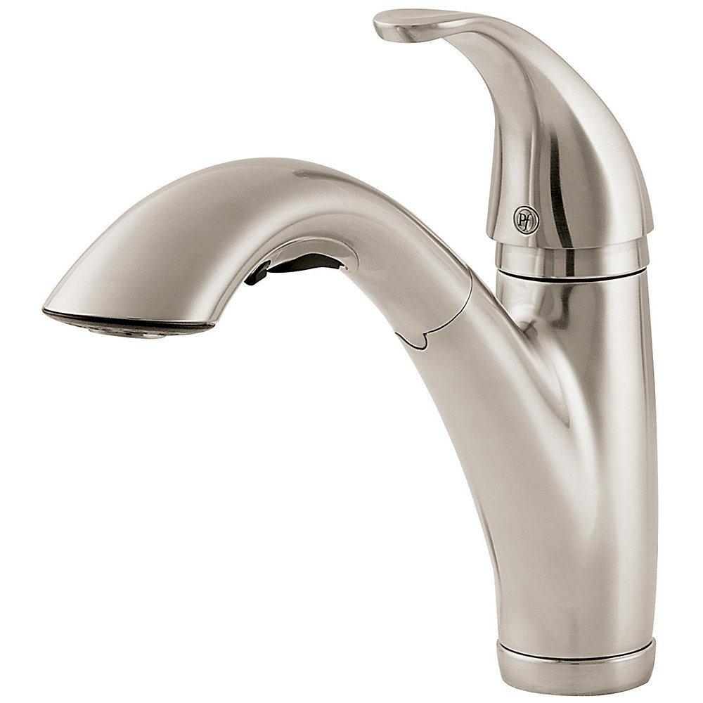 Stainless steel parisa 1 handle pull out kitchen faucet lg534 7ss
