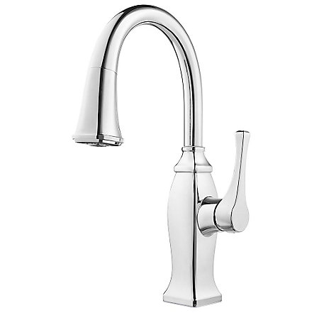 Polished Chrome Briarsfield 1-Handle Pull Down Bar and Prep Faucet - GT572-BFC - 1