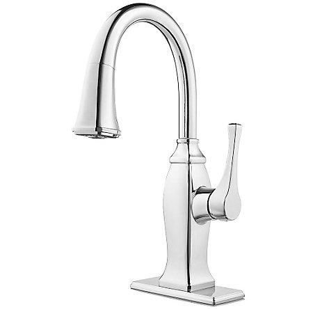 Polished Chrome Briarsfield 1-Handle Pull Down Bar and Prep Faucet - GT572-BFC - 2