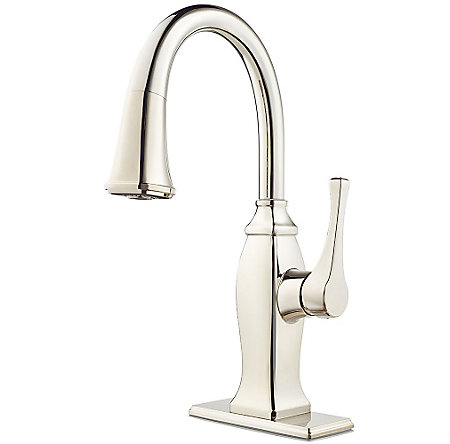 Polished Nickel Briarsfield 1-Handle Pull Down Bar and Prep Faucet - GT572-BFD - 2