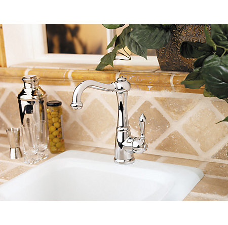 Polished Chrome Marielle 1-Handle Bar and Prep Faucet - GT72-M1CC - 3