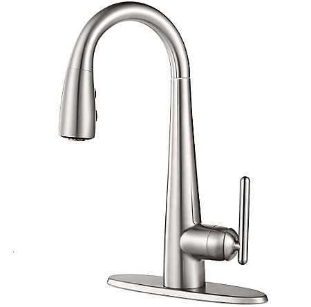 Stainless Steel Lita 1 Handle Pull Down Bar and Prep Faucet - GT72-SMSS - 2